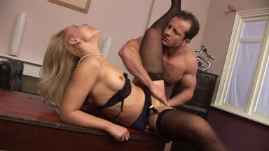Blonde Widowed MILF With Tight Hairy Pussy Gets Fucked Again For The First Time