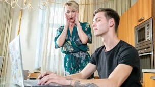 SHAME4K Mature blonde didnt expect her friends son to be so pervy